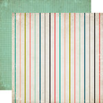 Carta Bella Paper - Moments and Memories Collection - 12 x 12 Double Sided Paper - Small Stripe