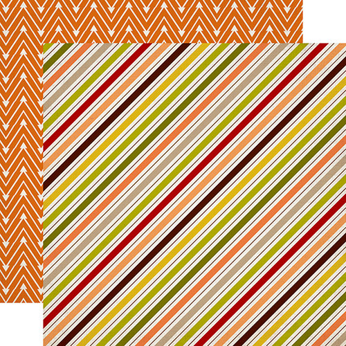 Carta Bella Paper - A Perfect Autumn Collection - 12 x 12 Double Sided Paper - Fall Stripe