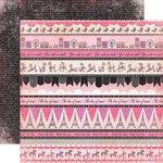 Carta Bella Paper - Paris Girl Collection - 12 x 12 Double Sided Paper - Paris Borders