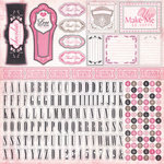 Carta Bella Paper - Paris Girl Collection - 12 x 12 Cardstock Stickers - Alphabet