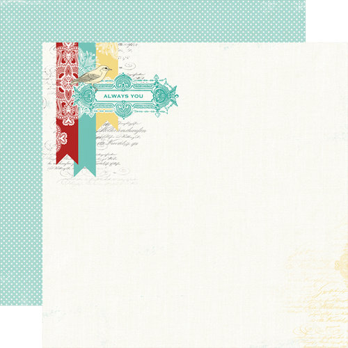 Carta Bella Paper - So Noted Collection - 12 x 12 Double Sided Paper - Always You
