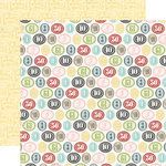 Carta Bella Paper - So Noted Collection - 12 x 12 Double Sided Paper - Inked Numerals