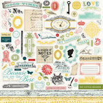 Carta Bella Paper - So Noted Collection - 12 x 12 Cardstock Stickers - Elements