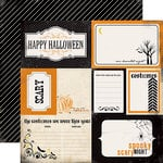 Carta Bella Paper - Spooky Collection - Halloween - 12 x 12 Double Sided Paper - Spooky Journaling Cards