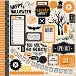 Carta Bella Paper - Spooky Collection - Halloween - 12 x 12 Cardstock Stickers