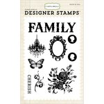 Carta Bella Paper - Moments and Memories Collection - Clear Acrylic Stamps - Celebrate Family