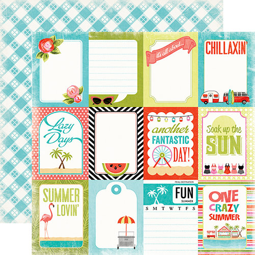 Carta Bella Paper - Summer Lovin Collection - 12 x 12 Double Sided Paper - Lazy Day