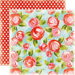 Carta Bella Paper - Summer Lovin Collection - 12 x 12 Double Sided Paper - Summer Floral