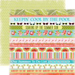 Carta Bella Paper - Summer Lovin Collection - 12 x 12 Double Sided Paper - Cool By The Pool