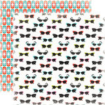 Carta Bella Paper - Summer Lovin Collection - 12 x 12 Double Sided Paper - Sunglasses