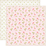 Carta Bella Paper - Summer Lovin Collection - 12 x 12 Double Sided Paper - Flamingos