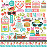 Carta Bella Paper - Summer Lovin Collection - 12 x 12 Cardstock Stickers