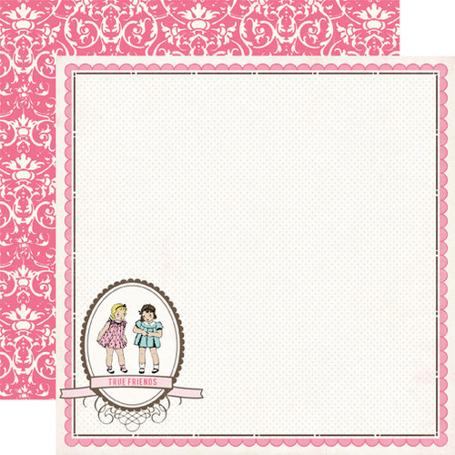Carta Bella Paper - True Friends Collection - 12 x 12 Double Sided Paper - Best Friends