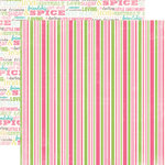 Carta Bella Paper - True Friends Collection - 12 x 12 Double Sided Paper - Sugar and Spice Stripe