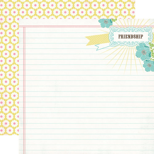 Carta Bella Paper - True Friends Collection - 12 x 12 Double Sided Paper - Friendship Notepad