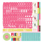 Carta Bella Paper - True Friends Collection - 12 x 12 Cardstock Stickers - Alphabet
