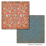 Carta Bella Paper - Traditions Collection - 12 x 12 Double Sided Paper - Evening Floral