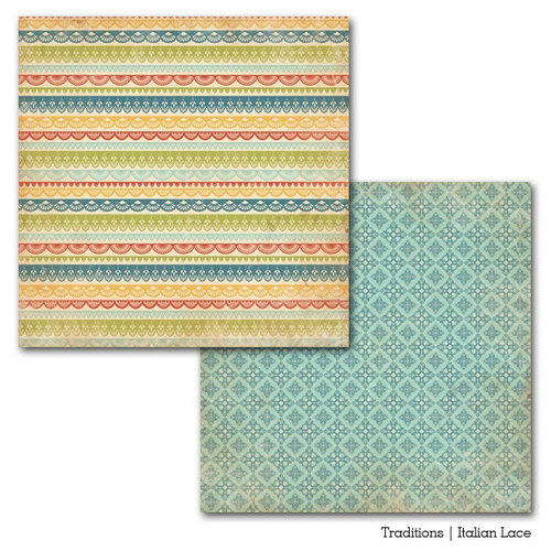 Carta Bella Paper - Traditions Collection - 12 x 12 Double Sided Paper - Italian Lace