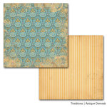 Carta Bella Paper - Traditions Collection - 12 x 12 Double Sided Paper - Antique Damask