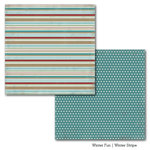 Carta Bella Paper - Winter Fun Collection - 12 x 12 Double Sided Paper - Winter Stripe