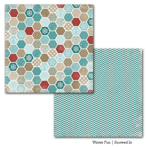 Carta Bella Paper - Winter Fun Collection - 12 x 12 Double Sided Paper - Snowed In
