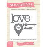 Carta Bella Paper - Words of Love Collection - Designer Dies - Love