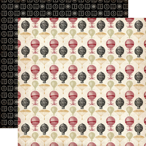 Carta Bella Paper - Well Traveled Collection - 12 x 12 Double Sided Paper - Flying High