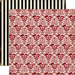 Carta Bella Paper - Well Traveled Collection - 12 x 12 Double Sided Paper - Old World Damask