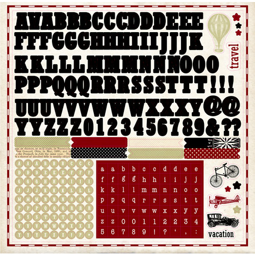 Carta Bella Paper - Well Traveled Collection - 12 x 12 Cardstock Stickers - Alphabet