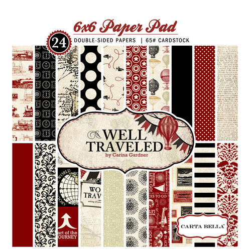 Carta Bella Paper - Well Traveled Collection - 6 x 6 Paper Pad