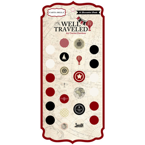 Carta Bella Paper - Well Traveled Collection - Brads