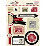 Carta Bella Paper - Well Traveled Collection - Layered Cardstock Stickers