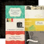 Carta Bella Paper - Yesterday Collection - 12 x 12 Double Sided Paper - 4 x 6 Journaling Cards