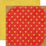 Carta Bella Paper - Yesterday Collection - 12 x 12 Double Sided Paper - Red Floral