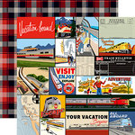 Carta Bella Paper - All Aboard Collection - 12 x 12 Double Sided Paper - Multi Journaling Cards