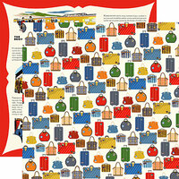 Carta Bella Paper - All Aboard Collection - 12 x 12 Double Sided Paper - Luggage
