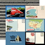 Carta Bella Paper - All Aboard Collection - 12 x 12 Double Sided Paper - Postcards