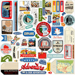 Carta Bella Paper - All Aboard Collection - 12 x 12 Cardstock Stickers - Elements