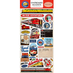 Carta Bella Paper - All Aboard Collection - Chipboard Stickers - Accents