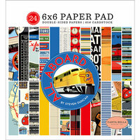 Carta Bella Paper - All Aboard Collection - 6 x 6 Paper Pad