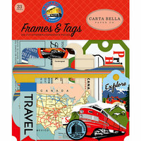 Carta Bella Paper - All Aboard Collection - Ephemera - Frames and Tags