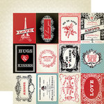 Carta Bella - Amour Collection - 12 x 12 Double Sided Paper - 3 x 4 Journaling Cards