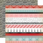 Carta Bella - Amour Collection - 12 x 12 Double Sided Paper - Border Strips