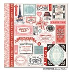 Carta Bella - Amour Collection - 12 x 12 Cardstock Stickers - Elements