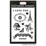 Carta Bella - Amour Collection - Clear Acrylic Stamps