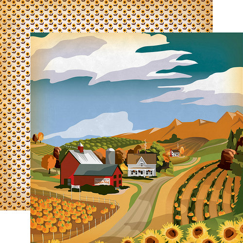 Carta Bella Paper - Autumn Collection - 12 x 12 Double Sided Paper - Harvest Season