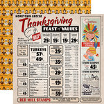 Carta Bella Paper - Autumn Collection - 12 x 12 Double Sided Paper - Thanksgiving Feast