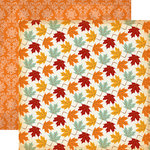 Carta Bella Paper - Autumn Collection - 12 x 12 Double Sided Paper - Colorful Leaves