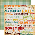 Carta Bella Paper - Autumn Collection - 12 x 12 Double Sided Paper - Family Gathering