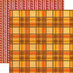 Carta Bella Paper - Autumn Collection - 12 x 12 Double Sided Paper - Autumn Flannel